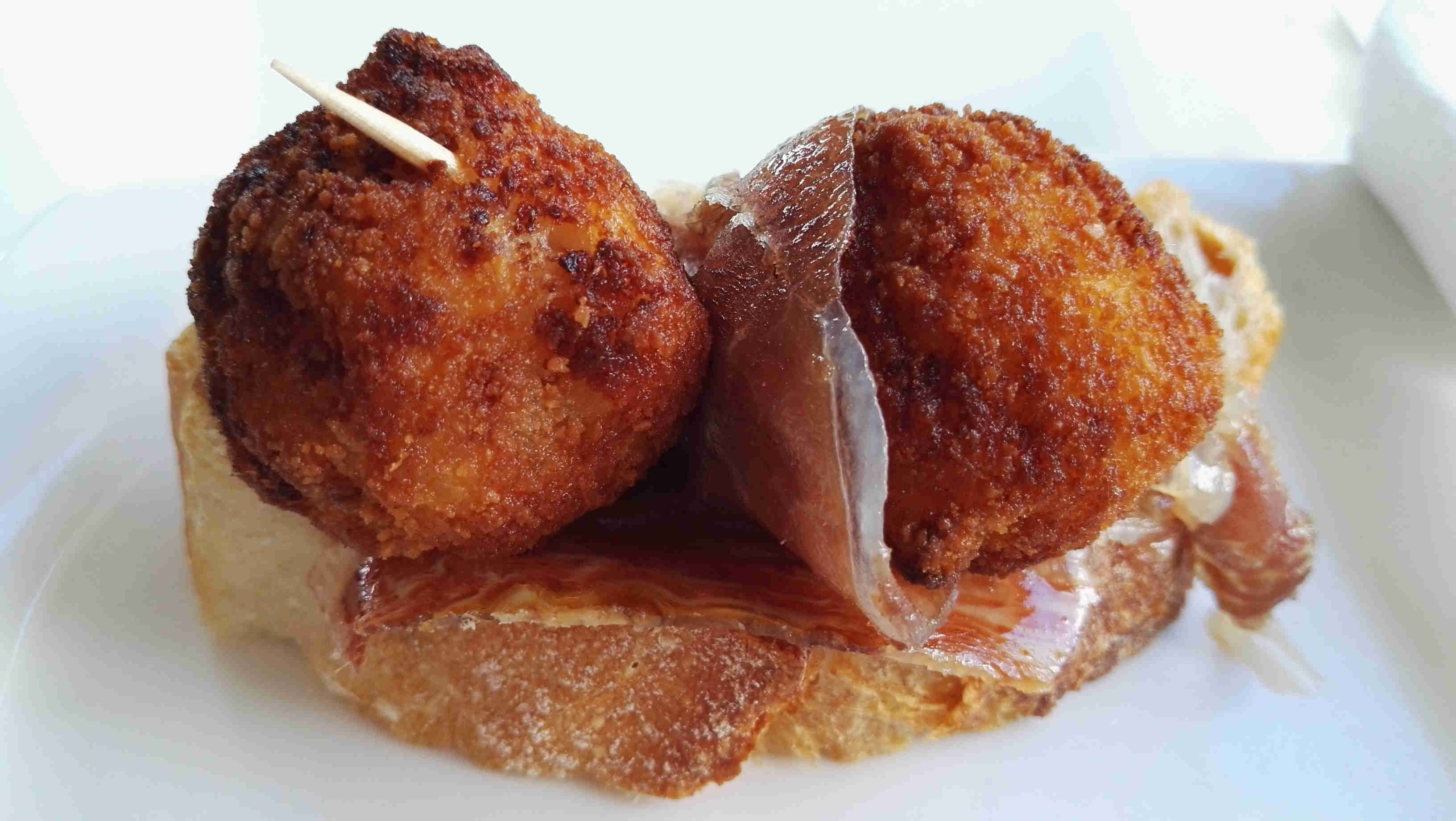 tapa croquette and ham burgos northern spain