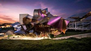 marques de riscal rioja hotel in our Spain and Portugal tours