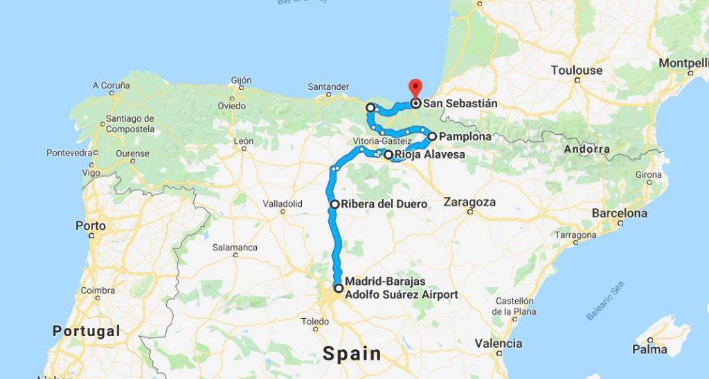 Ultimate Culinary Tour of Spain Map